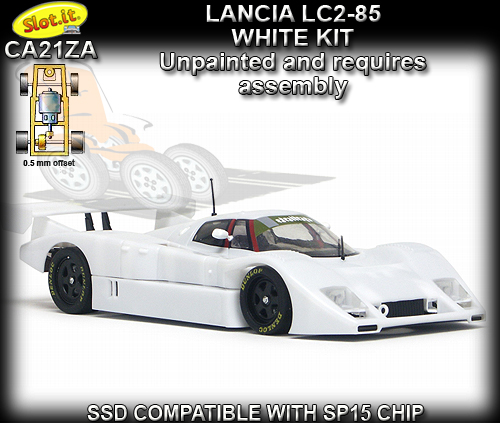 SLOT.IT CA21ZA - Lancia LC2 1985 White kit - requires assembley