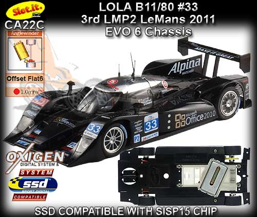 SLOT.IT CA22C - Lola B11/80 - 24hr Le Mans 2011 - Microsoft #33