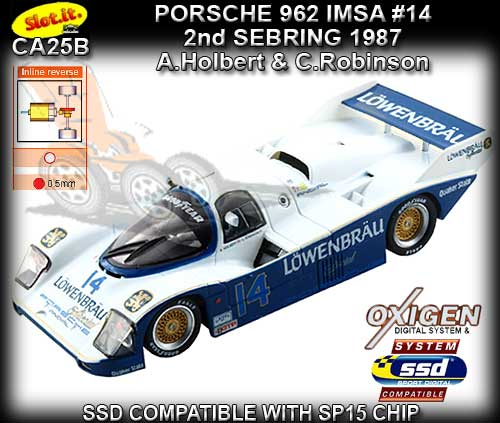 SLOT.IT CA25B - Porsche 962 IMSA - 2nd Sebring 1987 - Lowenbrau