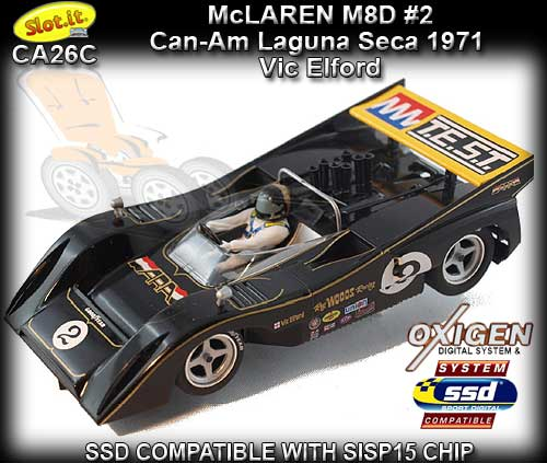 SLOT.IT CA26C- McLaren M8D #2 Can-Am Laguna Seca 1971