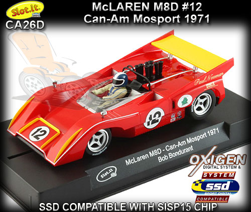 SLOT.IT CA26D- McLaren M8D - Can-Am Mosport 1971 #12