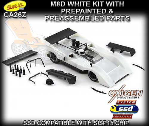 SLOT.IT CA26Z - McLaren M8D - M8D/ White kit - requires assembly