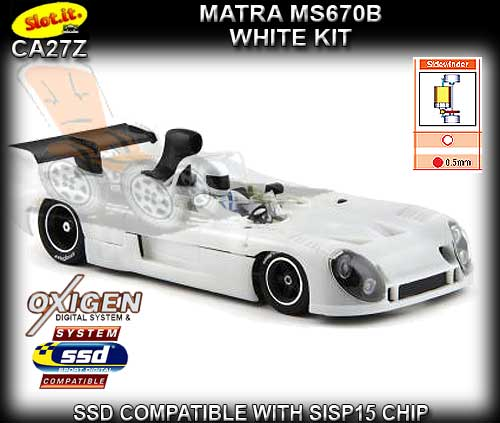 SLOT.IT CA27Z - Matra MS670B White kit - requires assembly