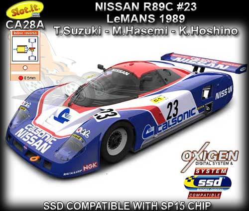 SLOT.IT CA28A - Nissan R89C - #23 24hr Le Mans 1989 - Calsonic