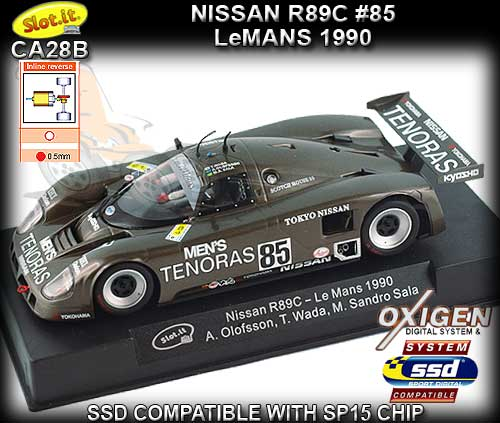 SLOT.IT CA28B - Nissan R89C - 24hr Le Mans 1990 - #85 Tenoras