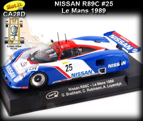SLOT.IT CA28D - Nissan R89C - 24hr Le Mans 1989 #25