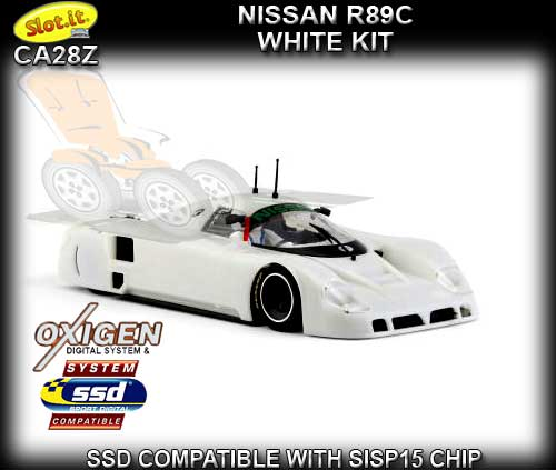 SLOT.IT CA28Z - Nissan R89C White kit - requires assembly