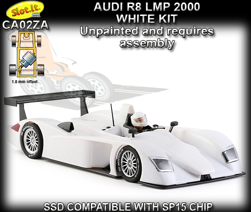 SLOT.IT CA33Z - Audi R8 LMP 2000 - white kt