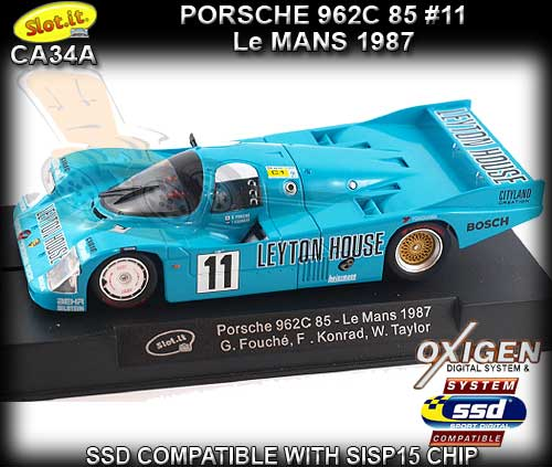 SLOT.IT CA34A - Porsche 962C 85 - 24hr Le Mans 1987 #11