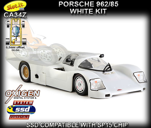 SLOT.IT CA34Z - Porsche 962C 85 - White kit - requires assembly