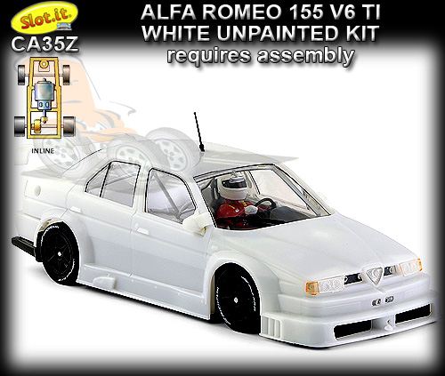 SLOT.IT CA35Z - Alfa Romeo 155 V6 TI white kit requires assembly