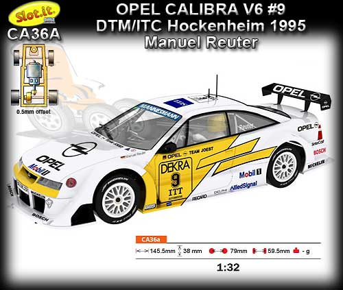 SLOT.IT CA36A - Opel Calibra V6 - DTM/ITC Hockenheim 1995 #9