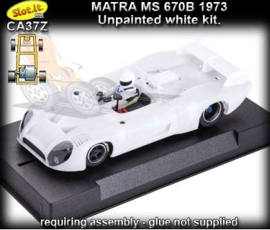 SLOT.IT CA37Z - Matra-Simca MS 670B - white kit - requires assem