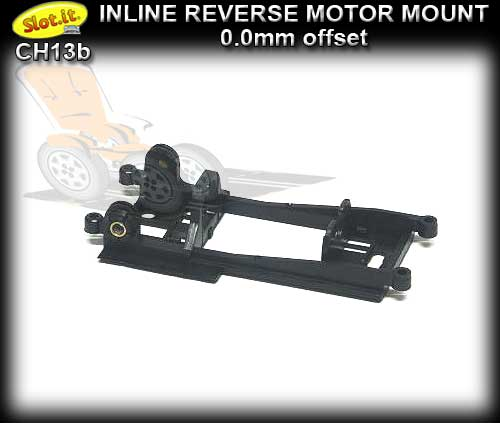 SLOT.IT MOTOR MOUNT CH13B - Inline Reverse - 0.0mm Offset