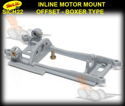 SLOT.IT MOTOR MOUNT CH22 - Inline Offset for Long-Can boxer