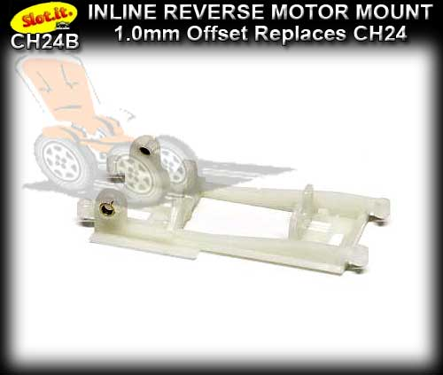 SLOT.IT MOTOR MOUNT CH24B - Inline Reverse 1.0mm Offset S-Can