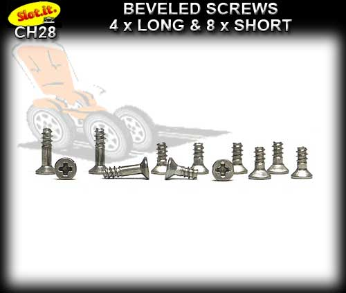 SLOT.IT SCREWS CH28 - Set of Screws for Cars Short & Long