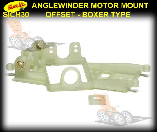 SLOT.IT MOTOR MOUNT CH30 - Anglewinder Long-Can Offset 1.0 mm