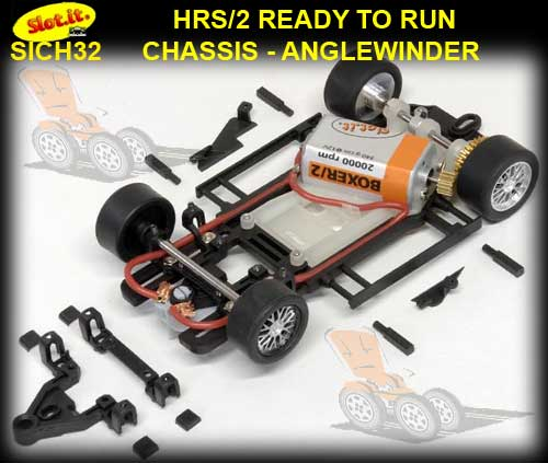 SLOT.IT RTR CHASSIS CH32 - HRS2 Chassis Anglewinder Offset