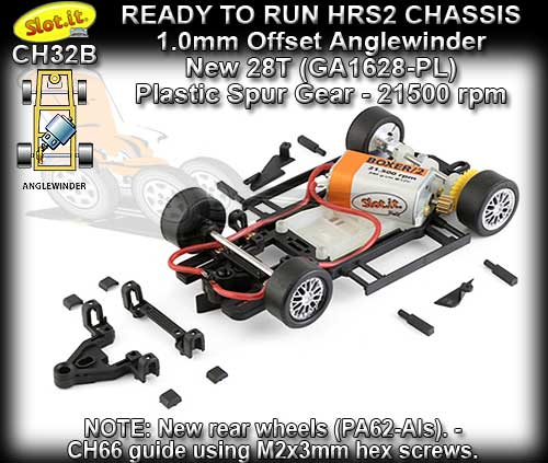 SLOT.IT RTR CHASSIS CH32B - HRS2 Chassis Anglewinder Offset
