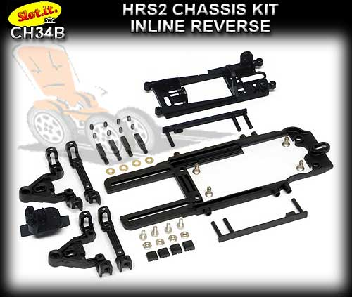 SLOT.IT CHASSIS HRS2 CH34B - Inline Reverse Starter Chassis Kit