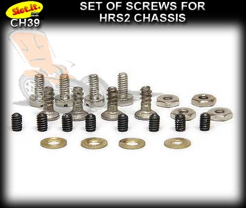 SLOT.IT SCREWS CH39 - Set H.R.S.2 chassis screws