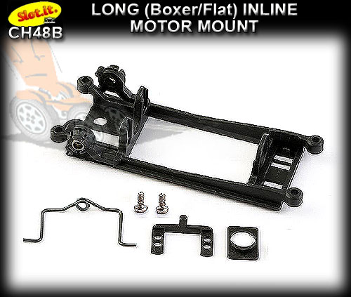 SLOT.IT MOTOR MOUNT CH48B - Long Inline Boxer/Flat - Hard
