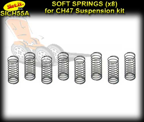 SLOT.IT CHASSIS CH55A - Soft Springs for CH47B Suspension Kit