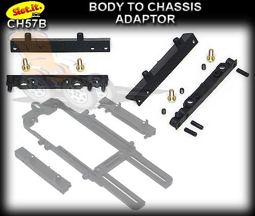 SLOT.IT BODY ADAPTOR CH57 - Body to Chassis adaptor