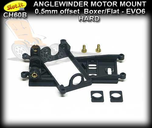 SLOT.IT MOTOR MOUNT CH60B - Anglewinder EVO6 0.5mm Offset HARD