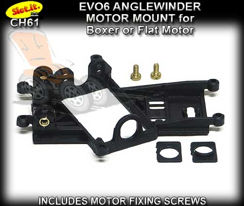 SLOT.IT MOTOR MOUNT CH61 - Anglewinder EVO 6 Motor Mount