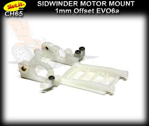SLOT.IT MOTOR MOUNT CH65 - Sidewinder -1.0 mm offset EVO6