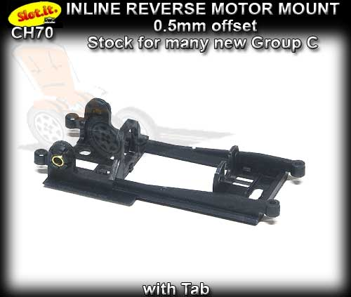 SLOT.IT MOTOR MOUNT CH70 - Inline Reverse - 0.5mm offset