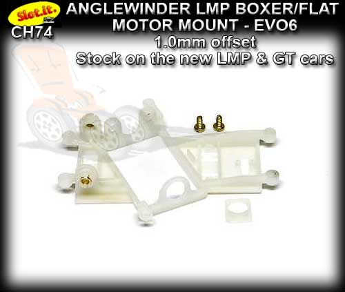 SLOT.IT MOTOR MOUNT CH74 - Anglewinder LMP - 1.0mm offset EVO6