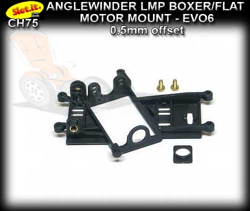 SLOT.IT MOTOR MOUNT CH75 - Anglewinder LMP - 0.5mm offset EVO6