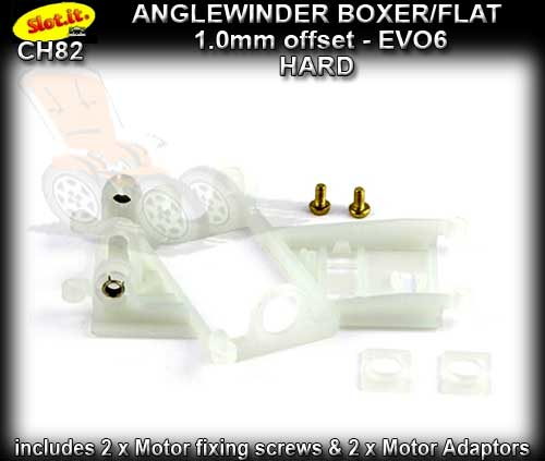 SLOT.IT MOTOR MOUNT CH82 - Anglewinder EVO 6 1.0mm offset HARD