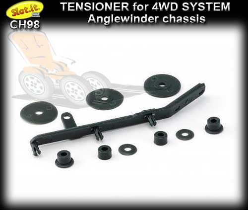 SLOT.IT 4WD PARTS CH98 - Tensioner for 4WD system - anglewinder