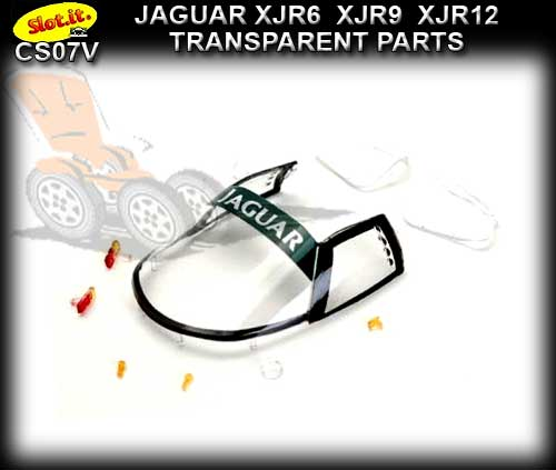 SLOT.IT BODY PARTS CS07V - Jaguar XJR6/9/12 Transparent Parts