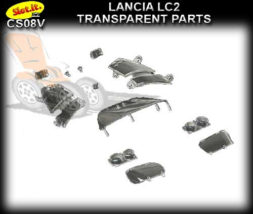 SLOT.IT BODY PARTS CS08V - Lancia LC2-84 Transparent Parts