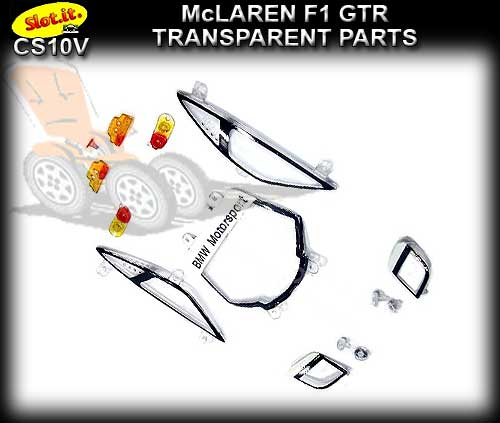 SLOT.IT BODY PARTS CS10V - McLaren F1 GTR Transparent Parts