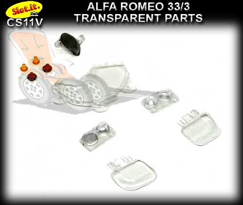 SLOT.IT BODY PARTS CS11V - Alfa Romeo 33/3 Transparent Parts