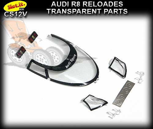SLOT.IT BODY PARTS CS12V - Audi R8C reloaded Transparent Parts