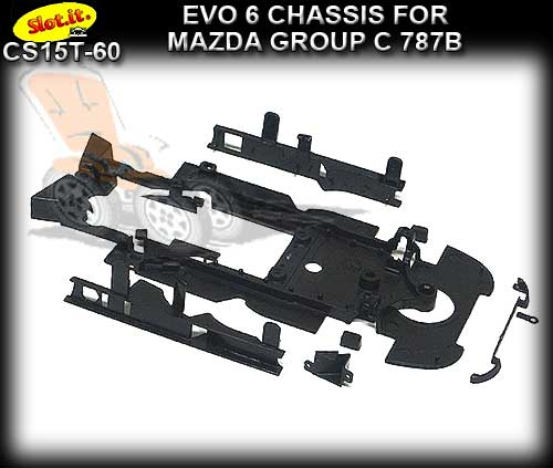 SLOT.IT CHASSIS CS15T-60 - Mazda 787B Chassis