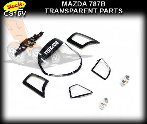 SLOT.IT BODY PARTS CS15V - Mazda 787B Transparent Parts