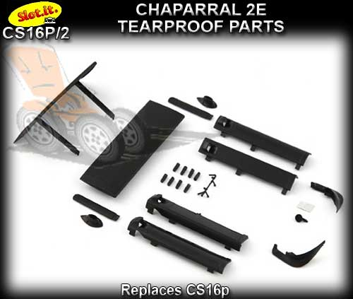SLOT.IT BODY PARTS CS16P/2 - Chapparel 2E Tearproof Parts