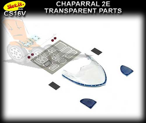 SLOT.IT BODY PARTS CS16V - Chaparral 2E Transparent Parts
