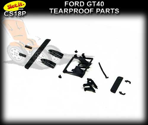 SLOT.IT BODY PARTS CS18P - Ford GT40 Tearproof Parts