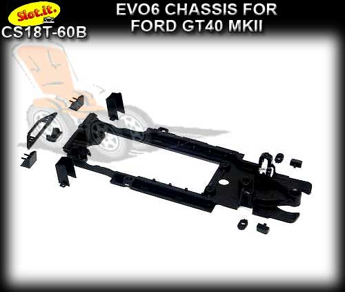 SLOT.IT CHASSIS CS18T-60B - Ford GT40 MKII (EVO 6)