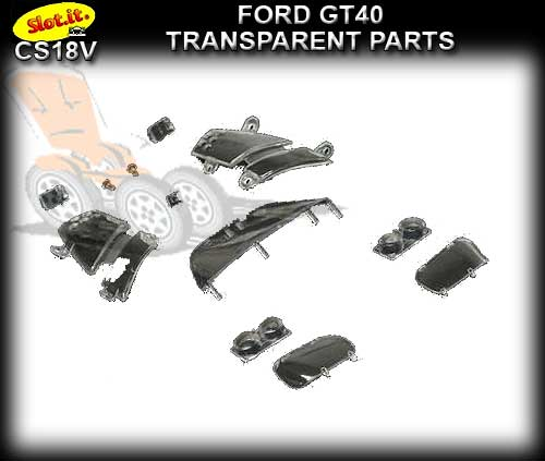 SLOT.IT BODY PARTS CS18V - Ford GT40 Transparent Parts