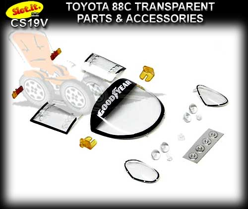 SLOT.IT BODY PARTS CS19V - Toyota 88C Transparent Parts